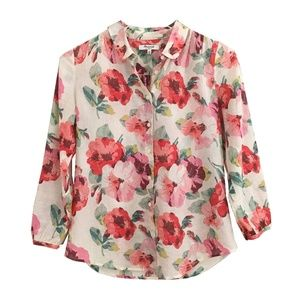 Madewell Tearose Floral Print Blouse